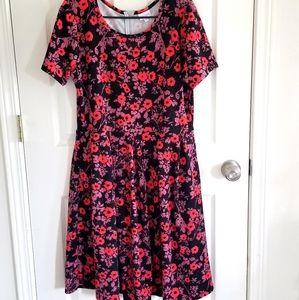Lularoe Amelia Dress xl poppies